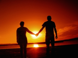 Holding Hands - Sunset